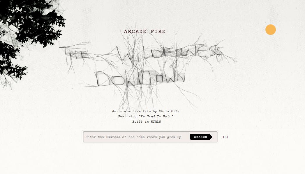 Arcade Fire - Un site en HTML 5